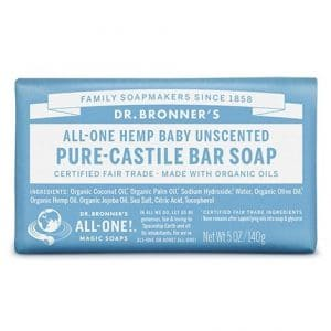 Dr Bronner's - Pure-Castile Bar Soap Baby Unscented, 140 gr-0