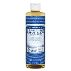 Dr Bronner's - Pure-Castile Liquid Soap Peppermint, 475 ml-0