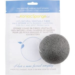 The Konjac Sponge Co - Facial Puff Sponge Bamboo Charcoal-0