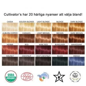 Cultivator's - Organic Herbal Hair Color Powder: Välj Färg-10011