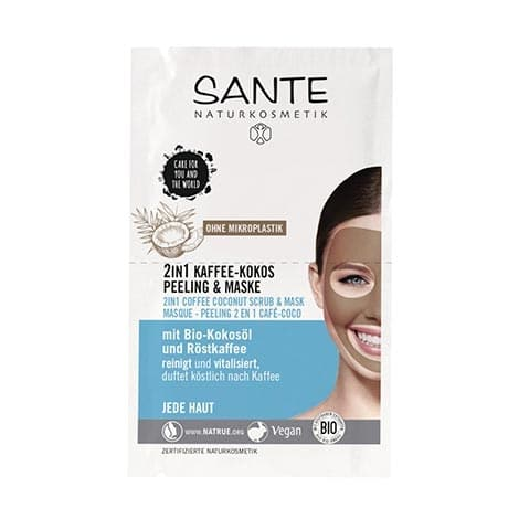 Sante - 2 in 1 Coffee Coconut Scrub & Mask, 2x4 ml-0